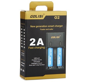 GOLISI O2 2-SLOT SMART BATTERY CHARGER
