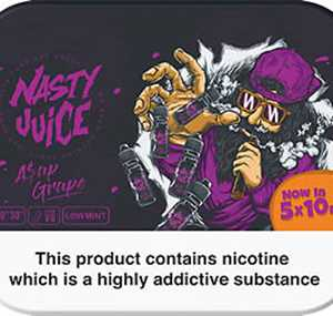 A$AP GRAPE E-LIQUID BY NASTY JUICE 10ML